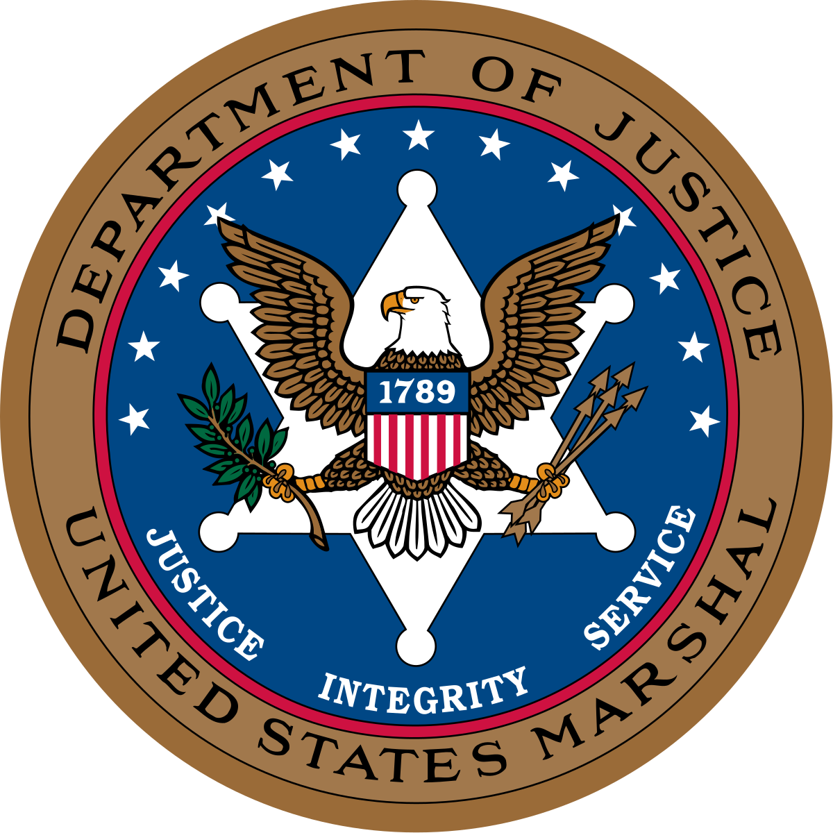 Department of Justice United States Marshal Logo